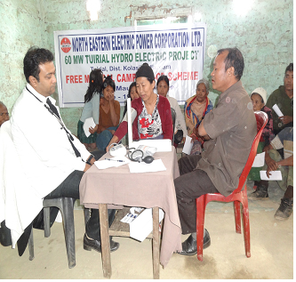 Medical camp organized at Tuirial HE Project, Mizoram