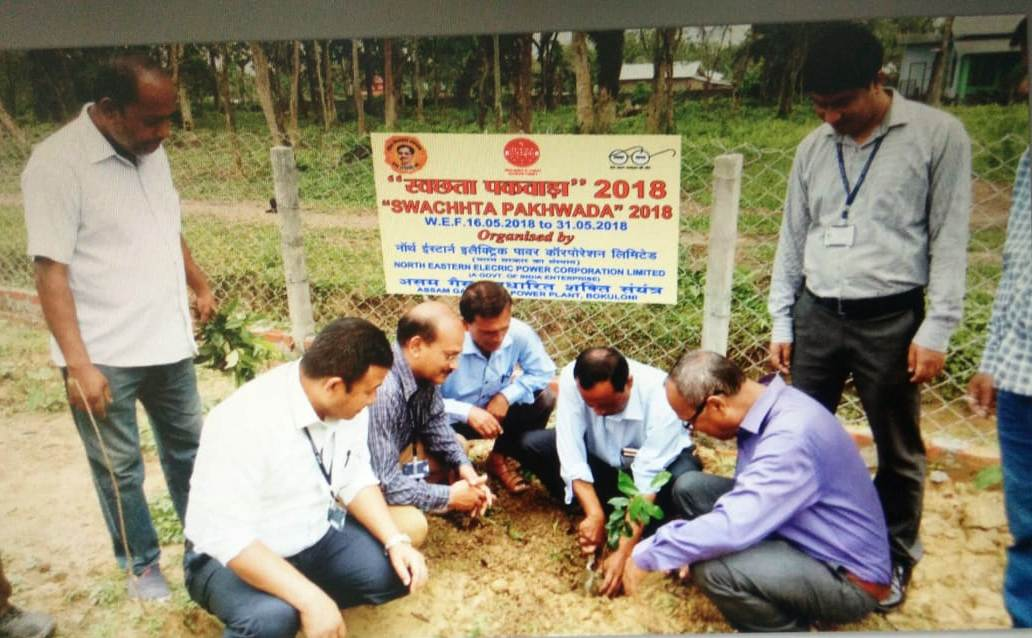 As a part of swachhta pakhwada 2018 programme AGBP has carried out plantation drive at Duliajan College, Duliajan(Photo-1)