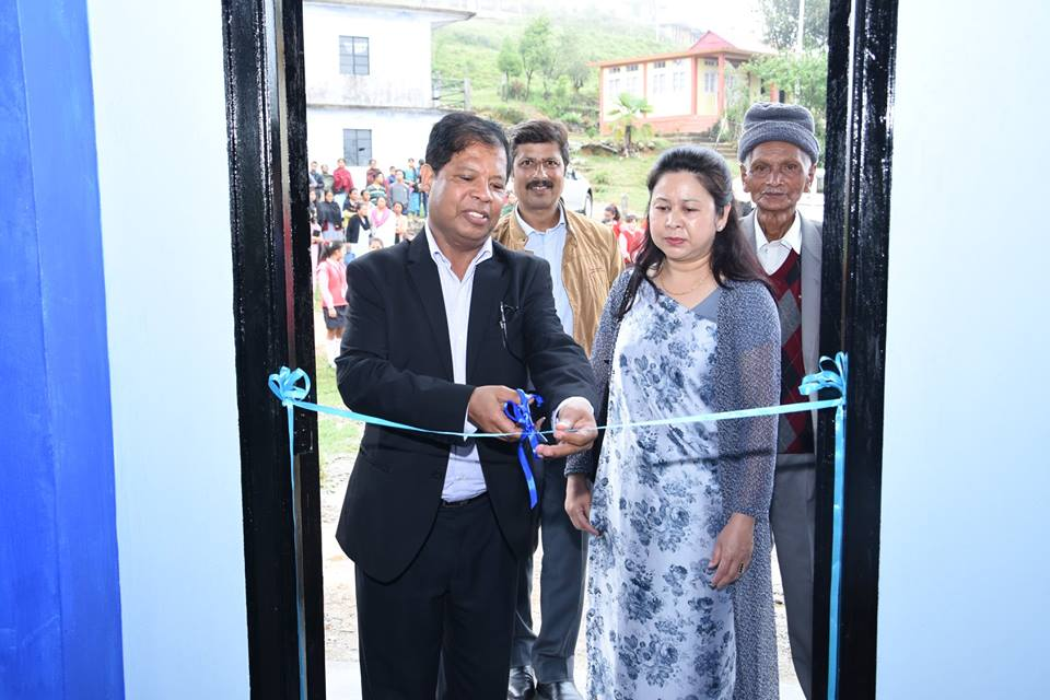 CMD inaugurated the School Hall, constructed under NEEPCO's CSR-S Scheme, at Agape Secondary School, Pomsohmen, Sohra on 19.05.18(Phtoto-1)