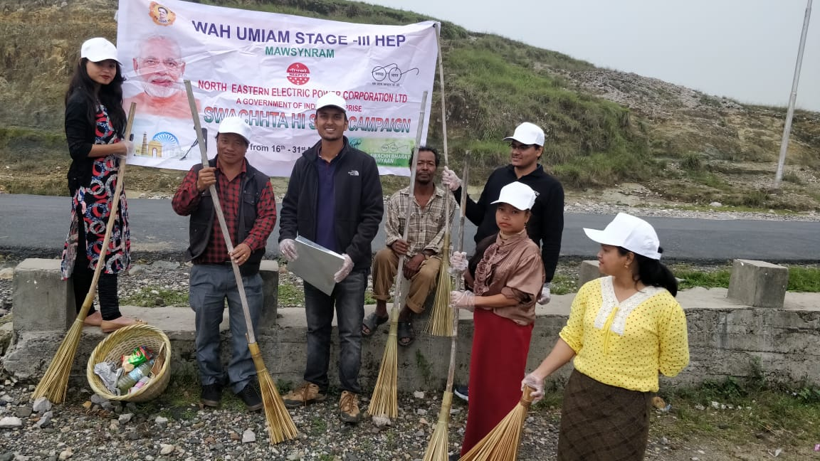 Activities held in the Wah Umiam Project under Swachhta Pakhwada week(Photo-2)